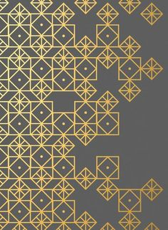 Geometric Gold Art Print | Find fun fabrics for your next project www.myfabricdesigns.com