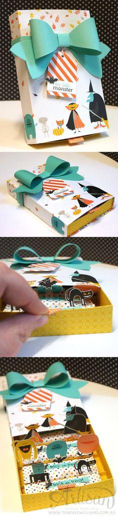 By Teneale Williams   Stampin' Up! Artisan Blog Hop   Halloween pop up treat box