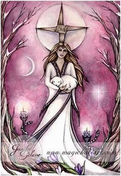 Brigid - Goddess of healing, poetry and the forge. Patron of smiths, healers and artisans.  Her special day is Imbolc, the beginning of spring.