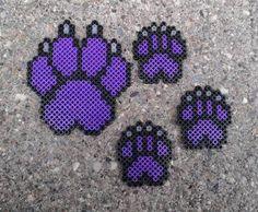 Paw Print - Small Purple and Black