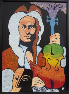 Vladimír Kiseljov - Portrait of composer Antonio VIVALDI cm, finished on 2014 Fallout Vault, Portrait, Fictional Characters, Art, Art Background, Headshot Photography, Kunst, Portrait Paintings, Performing Arts
