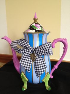 Hand Painted Silver Tea Pot.i love it