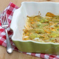Fiori di zucca Alici e Mozzarella   Ricetta al forno