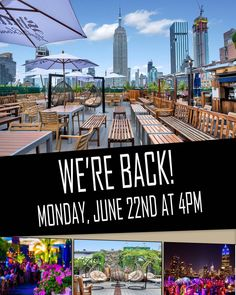 We are excited to be open today! . . . #230fifthrooftop #230fifth #rooftopbars #igloobar #manhattanbar #nycrooftop #nycrooftops #coolbars #rooftoprestaurant #happyhournyc #empirestatebuilding #nyc…