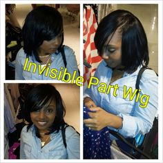 Flawless Invisible part quick weave using Bump hair