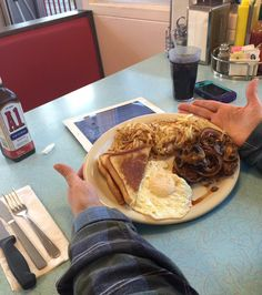 Broadway Diner - Steak & Eggs -- #BigTime breakfast for dinner. @focusgood @mizzouwally @comofoodies #BestBreakfast #BreakfastAnytime