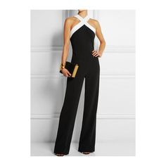 Criss Cross Neck Ankle Length Jumpsuit ($21) ❤ liked on Polyvore featuring jumpsuits, black, black sleeveless jumpsuit, criss cross jumpsuit, jump suit, black jump suit and patterned jumpsuit