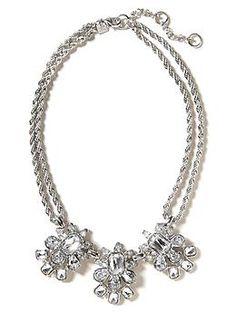 Petite Floral Necklace | Banana Republic $60