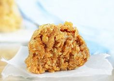 No flour + no sugar + no baking required! Pumpkin oatmeal cookies. Recipe here: http://chocolatecoveredkatie.com/2012/08/20/no-bake-pumpkin-oatmeal-cookies/