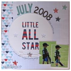 Layout made with the #epiphanycrafts Shape Studio Tool Star. www.epiphanycrafts.com #scrapbook #silhouette