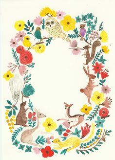 in the forest Art Print by Ayang Cempaka