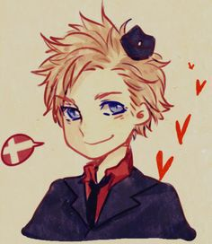 Hetalia 30 Day Challenge - Day Character you'd become best friends with- Denmark! I think we'd be great friends! Nordics Hetalia, Hetalia Funny, Hetalia Fanart, Denmark Hetalia, Dennor, Animes On, Kaichou Wa Maid Sama, Cool Sketches, Axis Powers