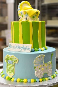 Baby Buggy Shower Cake by Beverly's Best Bakery