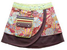 Nähanleitung Wickelrock mit Tasche von Created by Susi auf DaWanda.com