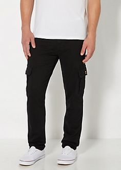 Black Cargo Chino Pant