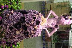 Faux Dupioni flower dress. -
