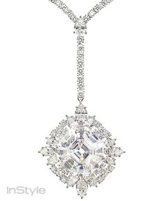Get Up Close & Personal With 2014 Oscar Jewels - CHARLIZE THERON'S Harry Winston Diamond Necklace from #InStyle