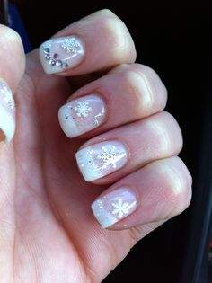 My snowflake nails! Winter. Gel nails
