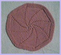 Free Knitting Pattern - Dishcloths & Washcloths : Octagonal Swirl Cloth