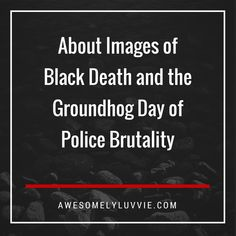 Footage. Video. Tapes. They exist in droves now. But what is the purpose? What good have they done? In the case of Eric Garner's death, it did nothing to bring justice. His killer walked free. In the case of Walter Scott, his killer got charged with murder and we celebrated because our standards are now so low that a CHARGE feels like justice. We shall await the trial where a jury of people who probably don't look like Walter will be left to decide.