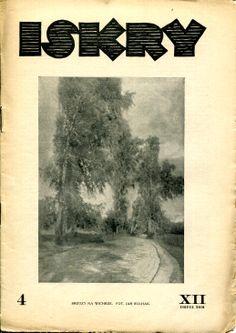 "Iskry No. 4, 29.09.1934, Y. XII vol. 2 Photograph on the cover by Jan Bułhak ""Brzozy na wietrze"""