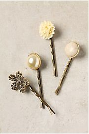 Make your own fashion hairpins using vintage earrings or buttons.