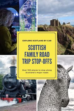 Wondering where to stop off on a road trip in Scotland? Here are plenty of great family road trip stops around the major Scottish roads. Find something to keep everyone happy! Days Out In Scotland, Scotland Road Trip, Scotland Travel, Fun Days Out, Family Days Out, Travel With Kids, Family Travel, Travel Europe, Travel Destinations