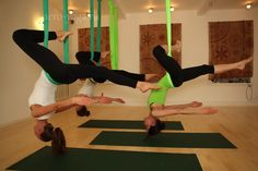 Unnata Aerial Yoga...I REALLY want to do this