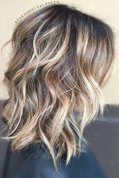 Nouvelle Tendance Coiffures Pour Femme  2017 / 2018   24 Couleurs de cheveux chics à la longueur moyenne pour un look tendance  Inspirez-vous de notre c
