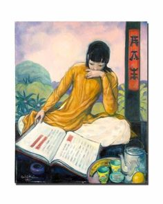 Andre Maire  Asian Woman Reading, Year: 1970