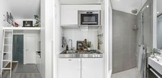 Small living is taken to a stylish extreme in 100-square-foot Stockholm apartment - Curbed