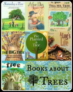 Books & Activities About Trees for Kids; science class, Arbor Day, Earth Day, Environmental Awareness