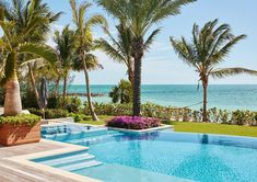 360 spill spa steps down into a wonderful infinity edge pool in the Bahamas. What an amazing view. Infinity Spa, Infinity Edge Pool, Albany Bahamas, Outdoor Spaces, Outdoor Living, Waterfront Homes, Pool Landscaping, Island Life, Modern House Design