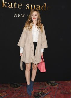 Fashion Week de New York - Leighton Meester en Spade ( New York, le 11 février 2017).