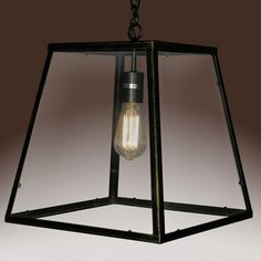 @Overstock - Minerva Single-light Edison Lamp - The Minerva single-light Edison Lamp is a unique, square-shaped clear glass pendant light with an antique black-finished metal frame. This simple yet elegant glass lighting fixture will add a contemporary touch to your home.  http://www.overstock.com/Home-Garden/Minerva-Single-light-Edison-Lamp/9407564/product.html?CID=214117 $137.99