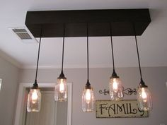 Mason Jar Chandelier Rectangle Mason Jar by OutoftheWdworkDesign