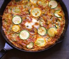 Spicy Zucchini Frittata