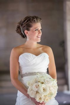 Bridal hair on location bridal hairstylist chicago dina@theamazingbride.com #updo#weddinghair#curls