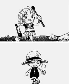 Mini Nami et mini Luffy