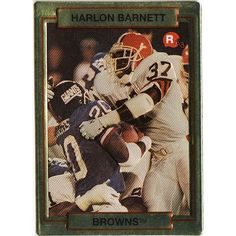 1990 NFL ROOKIE TRADING CARD CLEVELAND BROWNS' HARLON BARNETT ACTION PACKED #37 Listing in the Non-Graded,1990-1999,Rookies,NFL,Football (American) Cards,Sports Trading Cards,Sport Memorabilia & Cards Category on eBid Canada   151874344