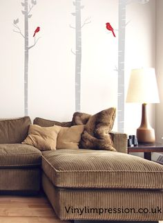 Forest of birch trees Wall Sticker by Vinyl Impression