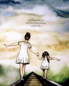 """Mother and Daughter """"Our Path"""" ~ Claudia Tremblay ~ Mother And Daughter Drawing, Mother Daughter Quotes, Mother And Child, To My Daughter, Daughters, Claudia Tremblay, Mothers Love, Little Sisters, Mother Gifts"""