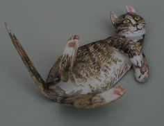 Fine Art Miniatures by Natasha, featuring shadow boxes, miniature paintings, painted sculptures, and dollhouse scale decorated period furniture. Kittens, Cats, Sculpting, Dog Cat, Sculptures, Miniatures, Painting, Cute Kittens, Gatos