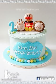 Anpanman cake lovely cake food pinterest cakes for Anpanman cake decoration