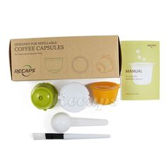 Refillable Reusable Coffee Capsule Filter for Nescafe Dolce Gusto Set New Nescafe, Ebay, Dolce Gusto