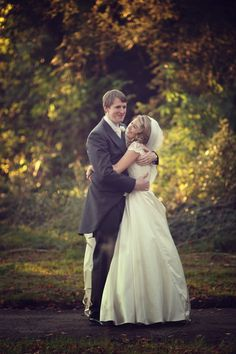 The couple with an Autumn backdrop Wedding Advice, Post Wedding, Fall Wedding, Ireland Wedding, Irish Wedding, Autumn Weddings, Real Weddings, Christmas Day Celebration, Couple Hugging