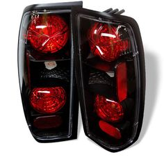 ( Spyder ) Nissan Frontier 98-00 Euro Style Tail Lights - Black