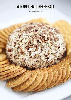 4 ingredient cheese ball -hands down one of the easiest and yummiest recipes to serve at your next holiday party!