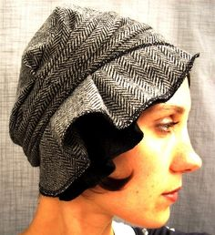 wool cloche - herringbone