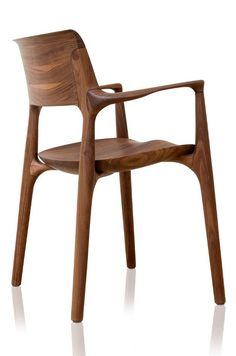 Easy armchair by Jader Almeida (wooden seat) – Kelly Christian Designs Chair Design Wooden, Wood Design, Wood Furniture, Modern Furniture, Furniture Design, Easy Chair, Designer Bar Stools, Chaise Bar, Modern Chairs